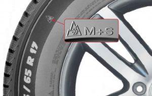 Neumático de invierno pictograma M+S